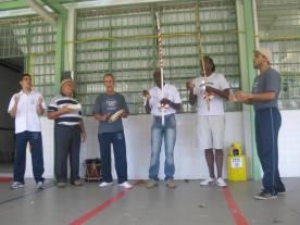 Professor Esquilo, Mestre Durval, Mestre Dorival, Mestre Alcides, Contramestre Paulinho Baraúna e professor Pança