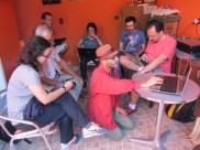 A Reunião do CEACA é realizada mensalmente; após o trabalho, há almoço coletivo.