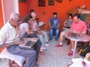 Mestres participam da reunião do CEACA para produção partilhada de conhecimento e configuração das páginas do site.