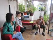 Katiane, Aninha e Edison. Reunião 9 de Agosto 2014 - casa do Edison.