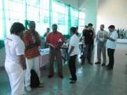 Mestre Alcides, Daniel e Mestre Oró - conversa nos bastidores do evento.