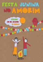 Festa Junina boa é no Amorim Lima, 20 de junho, às 13 hs.