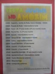 Programação da Festa Junina no Amorim LIma.