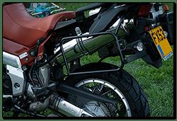 Aprilia Caponord ETV1000 Rally-Raid - Quill Evo2 exhausts on stock Aprilia link pipes