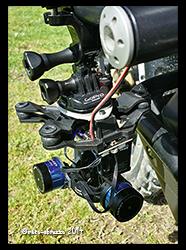 Aprilia Caponord ETV1000 Rally-Raid Tarot 2D gimbal mounted to left-hand crash bar