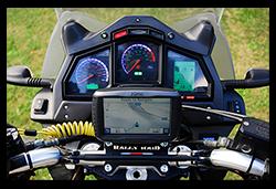 Aprilia Caponord ETV1000 Rally-Raid with Motrag.com base & micro mount for Garmin GPS