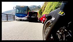 Aprilia Caponord ETV1000 Rally-Raid GoPro image - Amalfi bus & van