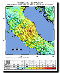 Central Italy earthquake 30/10/2016