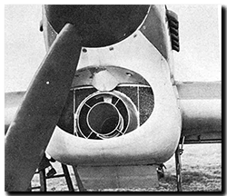 Hawker Typhoon air inlet and radiator