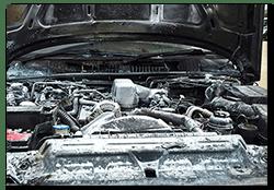 Range Rover P38 and a littel under bonnet fire!