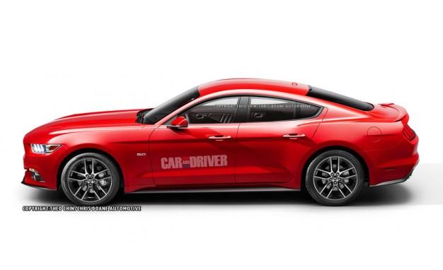 Renders de páginas especializadas muestran como se vería un Mustang con 4 puertas.