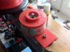 VCR head drum filament spooler
