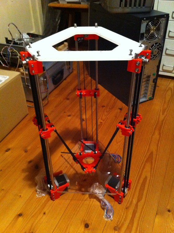Rostock Mini assembled but without electronics