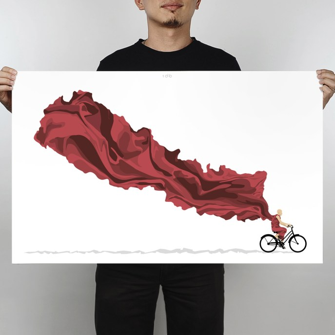 100Copies_No27_Ride_On_Nepal_limited-edition_art_print_overall-preview