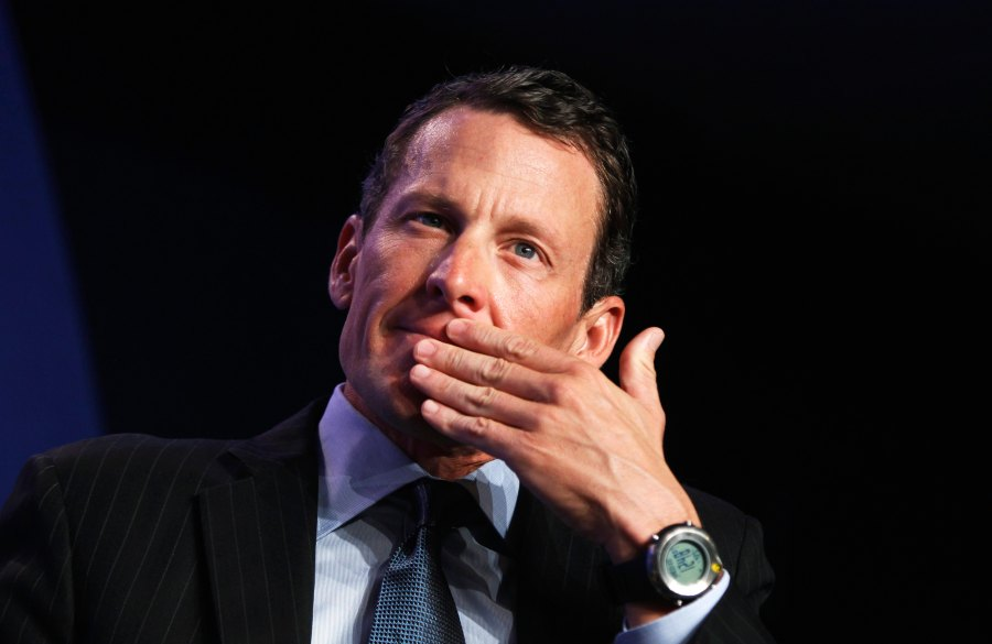 Lance Armstrong, founder of the LIVESTRONG foundation, takes part in a special session regarding cancer in the developing world during the Clinton Global Initiative in New York in this September 22, 2010 file photogrpah. Lance Armstrong will break his silence about his lifetime ban from cycling and the doping charges made against him in a televised interview with Oprah Winfrey next week, the television presenter announced on January 8, 2013. The interview, to be broadcast on the Oprah Winfrey Network on Jan. 17, will be the first the American cyclist has conducted since receiving his ban and being stripped of his seven Tour de France titles. REUTERS/Lucas Jackson/Files (UNITED STATES - Tags: SPORT CYCLING ENTERTAINMENT)