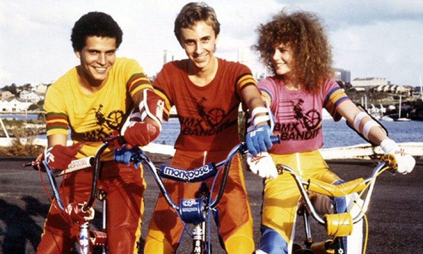 Angelo D'Angelo, James Lugton and Nicole Kidman in BMX Bandits.