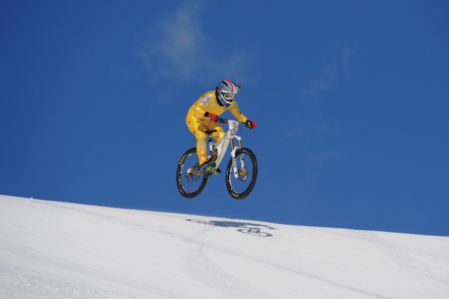 23/24.03.12 Saas-Fee Glacier Bike, Switzerland. PIC © Andy Lloyd