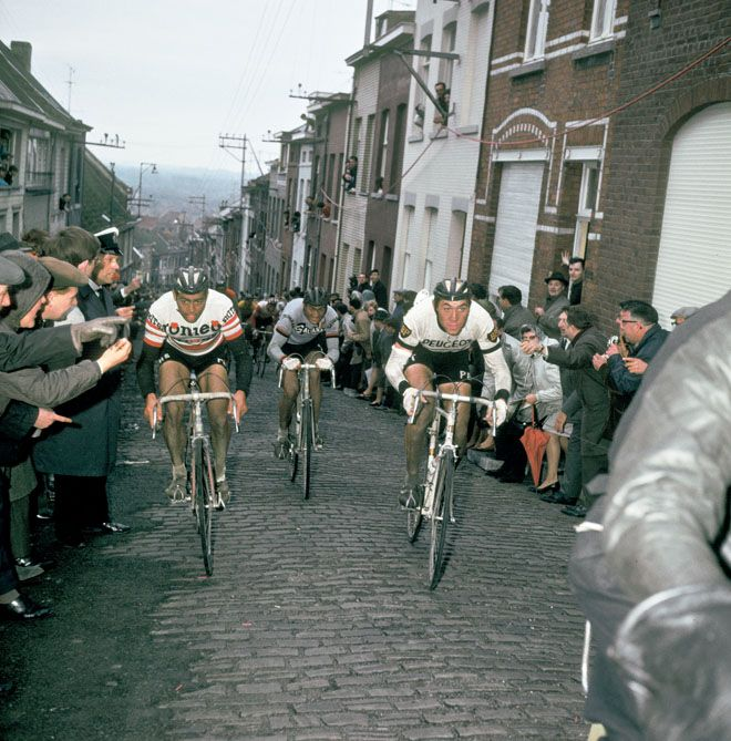 Mur de Grammont. *** Local Caption *** merckx (eddy) planckaert (willy) a legender