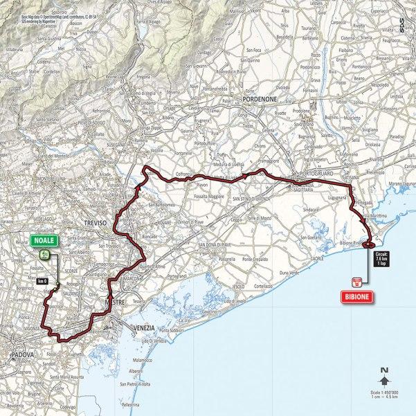 Giro-dItalia-2016-Stage-12-Noale-to-Bibione-route-map