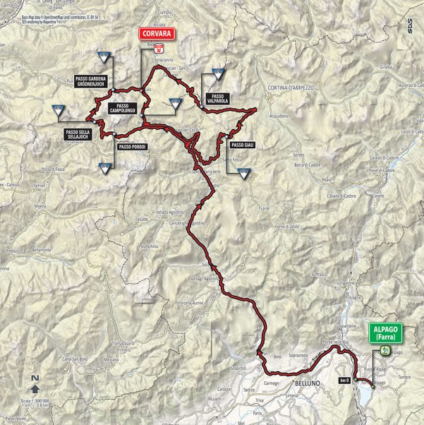 Giro-dItalia-2016-Stage-14-Alpago-Farra-to-Corvara-route-map