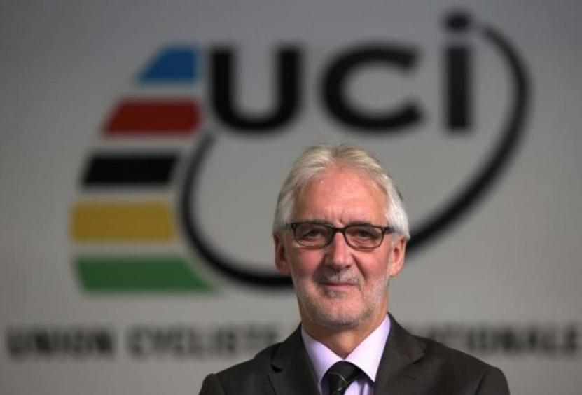 Britain's Brian Cookson, President of International Cycling Union (UCI) poses in the Federation headquarters in Aigle, western Switzerland November 19, 2013. REUTERS/Denis Balibouse