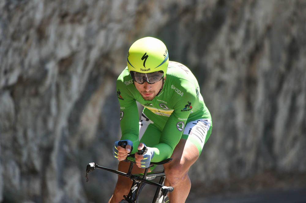 Tour de France 2016 - 15/07/2016 - Etape 13 - Bourg-Saint-Andéol/ La Caverne du Pont-d'Arc (37,5 km CLM) - Peter SAGAN (TINKOFF) en course