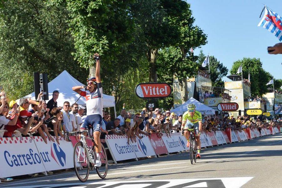 Tour de France 2016 - 17/07/2016 - Etape 15 - Bourg-en-Bresse/ Culoz (160 km) - Jarlinson PANTANO (IAM CYCLING) s'impose à Culoz