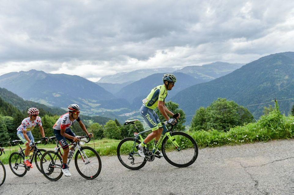 Tour de France 2016 - 22/07/2016 - Etape 19 - Albertville / Saint-Gervais Mont Blanc (146 km) - KISERLOVSKI Robert (TINKOFF), PANTANO Jarlinson (IAM CYCLING), MAJKA Rafal (TINKOFF)