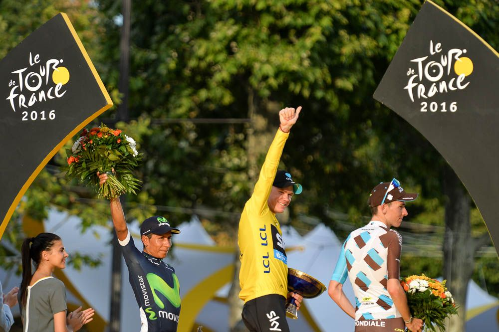 Tour de France 2016 - 24/07/2016 - Etape 21 - Chantilly / Paris Champs Elysées (113 km) - Christopher FROOME (TEAM SKY) remporte son troisième Tour de France