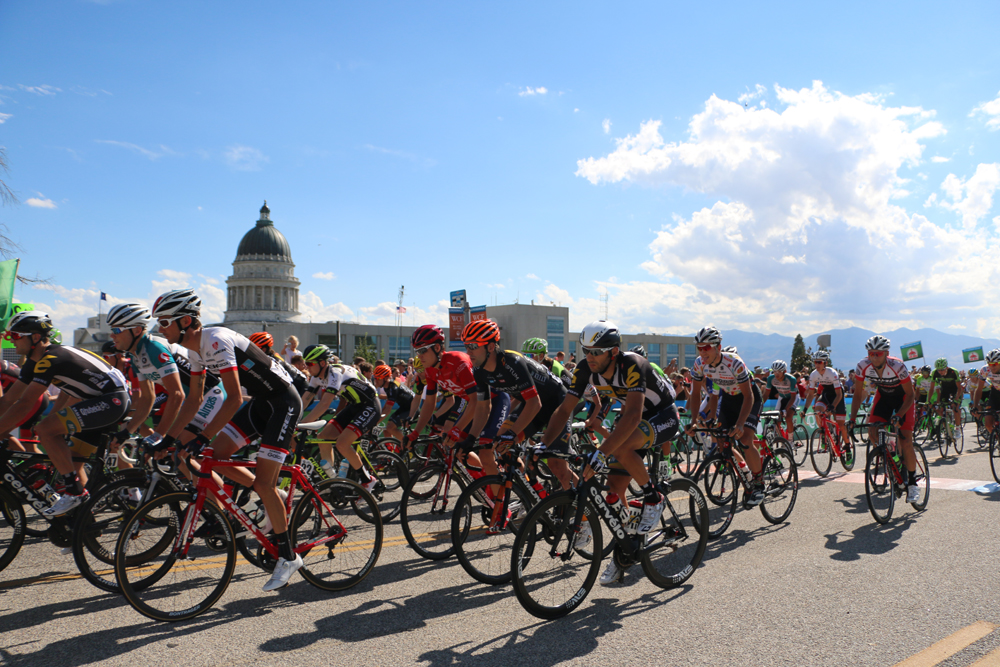 12 Teams are confirmed for the 2016 Tour of Utah, including Cannondale, BMC, Iam Cycling, and Trek. Photo by Dave Iltis