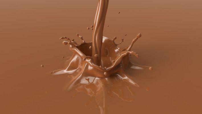 brown chocolate splash with a beautiful crown.