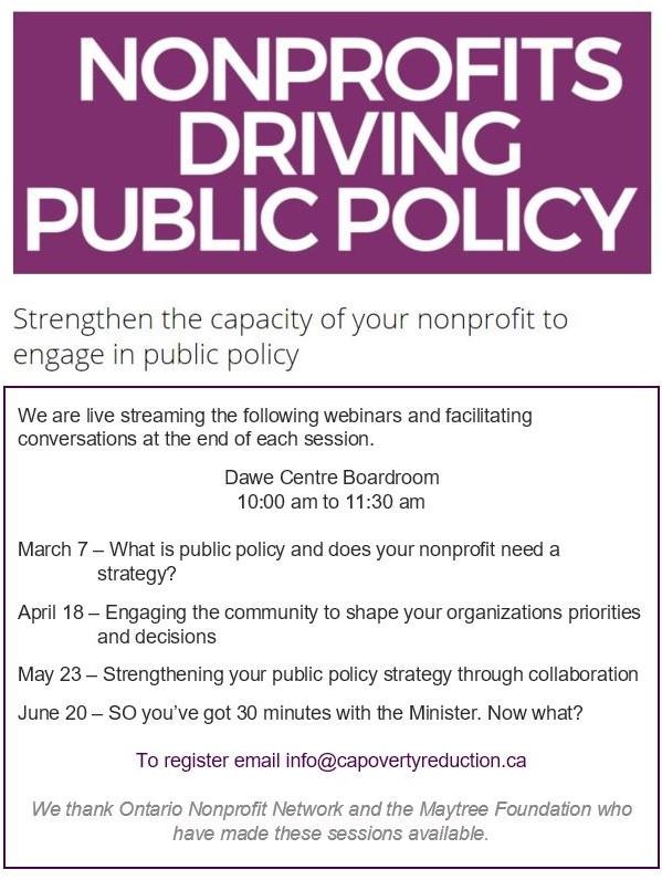 Nonprofits Driving Public Policy Webinar #3 - Engaging the community @ Dawe Centre Boardroom | Red Deer | Alberta | Canada