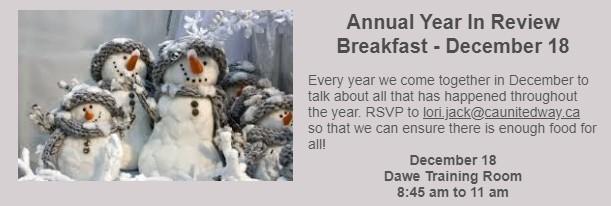 December Alliance Breakfast Meeting @ Dawe Community Centre