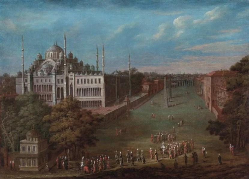 Площадь Султанахмет (1730-е годы) - картина художника ориенталиста Жан Батист Ван Мур