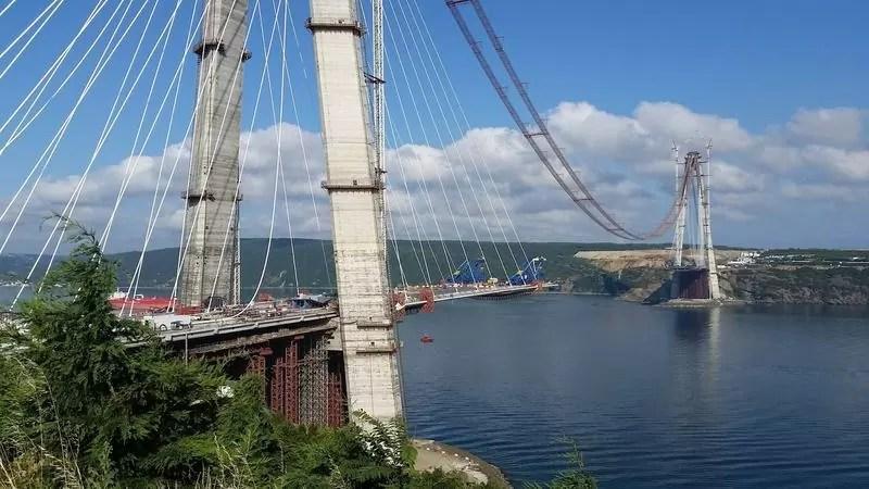 Строительство третьего моста через Босфор