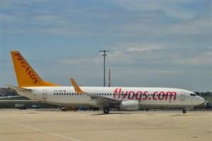 "Самолет лоукостера ""Pegasus Airlines"""