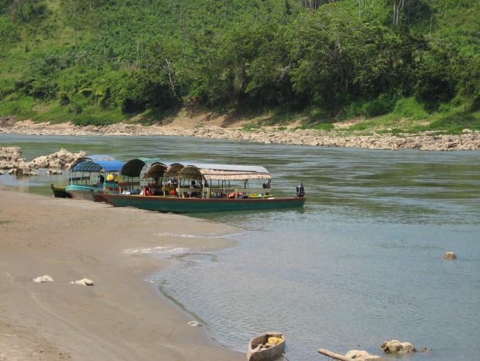 Boats in Frontera Corozal, Chiapas, Mexico