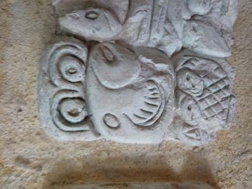 Mayan  fish art at Palenque
