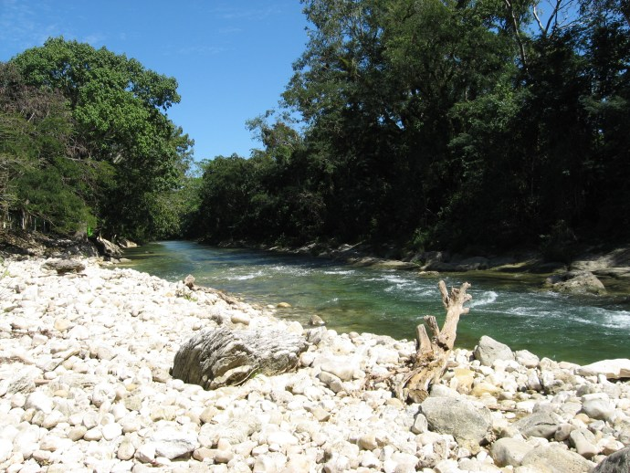 Chacamax River at the Nututun in Chiapas, Mexico