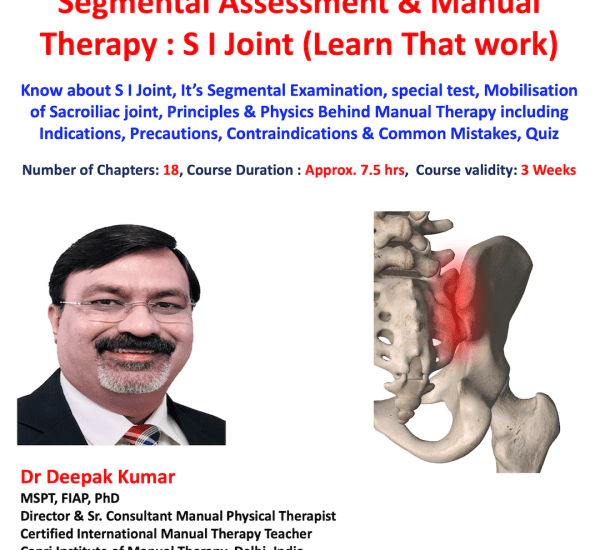 SI JOINT MANUAL THERAPY