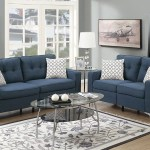 Sale Connar 2pc Sofa And Loveseat With Accent Pillows In Blue Sofa Sets Living Room