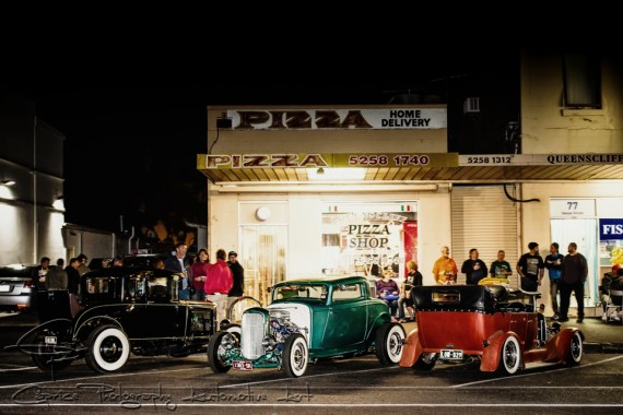 hangouts, hot rods, hot rod scenes, pizza places