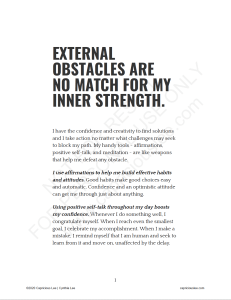 EXTERNAL OBSTACLES ARE NO MATCH FOR MY INNER STRENGTH