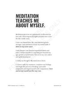 MEDITATION TEACHES ME ABOUT MYSELF