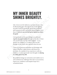 MY INNER BEAUTY SHINES BRIGHTLY