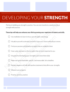 DEVELOPING YOUR STRENGTH