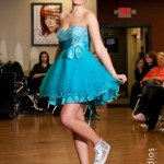Hair and Makeup Competition Teal Dress