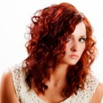 Bright Red Wavy Hair Style