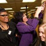 Instructor Demonstrates Hair Cutting Technique