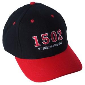 St Helena Island 1502 baseball cap black red